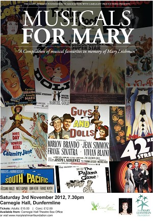 Musicals for Mary event